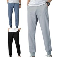 Men's Pants Ankle-length Pencil Men Skinny Joggers Running Sweatpants Ankle Tied Straight Sports Male