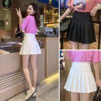 Mädchen Tennis Röcke Ein Gitter-Kurze Kleid Hohe Taille Plissee Tennis Rock Uniform mit inneren Shorts Undervany für Badminton Cheerleader 7 W2