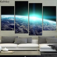 Diamond Painting 5d Diy Daimond 4pcs Cross Stitch 3d Pictures Embroidery Full Earth Planet Mosaic Triptych Home Decor