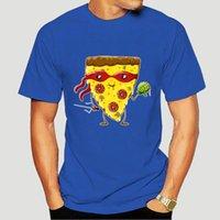 Мужские футболки Anlarach Повседневная Ninja Пицца ест черепах футболка для мужчин подарочная еда обычная футболка экипаж шеи футболка 1280x