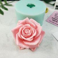 3D bella fiore rosa stampo in silicone bouquet di rose stampi sapone in resina argilla in gypsum gypsum cioccolato candela stampo 210225