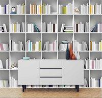 Benutzerdefinierte Tapete Wandbild 3D / 8D Dreidimensionale moderne minimalistische Bücher TV-Hintergrund Wandwandabdeckung