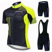 새로운 카포 사이클링 저지 세트 턱받이 반바지 세트 2021 여름 산악 자전거 자전거 정장 안티 UV 자전거 팀 경주 유니폼 옷