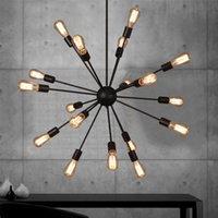Creative Vintage Retro LED Lustre intérieure LOFT Style industriel Restaurant Cuisine Salon Salon Lights Lampe Lampe Décor