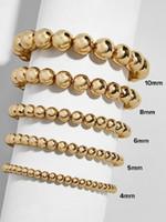 Balle de bille CCB Bracelet EXTRATTABLE ELASTICLE BRACELETS DE PERLTES DE LA MONTRE ÉTÉ SUPÉRATION GOLD BROCELET DE COULEUR DE COULEUR BROBES BOHÉMIEN MULTILAUSE BIJOUX
