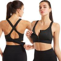 Femme Sports Bra Crop Top Fitness Sportswear Front Zipper Femmes Sous-Vêtements Power Push Up Plus Taille