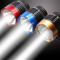 Cycling Q5 LED 3 Modes Front Light Headlamp Headlight Torch Waterproof For Mountain Road Bike 4 Colors Bicycle Light 257 W2