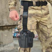 Outdoor Bags Tactical Safa Drop Leg Platform For 17 19 Colt 1911 P226 USP Pistol Thigh Holster Paddle Adapter Hunting Gun Accessories