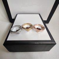 Coreet Продажа посеребренного кольца Высокое качество сплава три цвета верхние кольца для женщины мода простая личность ювелирные изделия