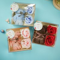 Benutzerdefinierte Bärtuch Geschenkbox Weihnachten Muttertag Valentinstag Festival Seife Rose Blume Geschenk Kreative praktische meer versand LLA498