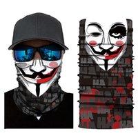 사이클링 모자 마스크 패션 마법의 스카프 마스크 남성 두개골 미국 국기 코튼 전체 승마 방풍 스카프 장식 얼굴 야외