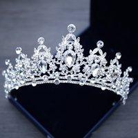 Wedding Tiaras Crystal Bridal Barrettes Crown Silver Diadem Veil Tiara Birthday Hair Accessories Headpieces Head Jewelry Supplies