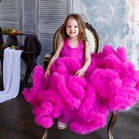 Girl's Dresses 2021 Gorgeous Cloud Flower Girls For Weddings Little Girl Party Frocks Dress Prom Evening Birthday