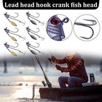 Fishing Hooks Treble Fishhooks With Spinner Lure Hard Bait Bass 3D Eyes Lures Crank Fish Head