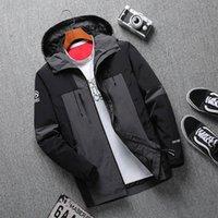 Erkek Ceket Iyi Kaliteli Giyim Mont Production Üretim Kapüşonlu Ceketler Harflerle Rüzgarlık Fermuar Hoodies Erkekler için Sportwear Giyim Tops 2