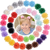 24 Colors Baby Girl Hair Clip Kids Chiffon Flower Accessory ...