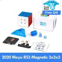 الأحدث 2021 moyu rs3 م المغناطيسي 3x3x3 مكعب ماجيك mf3rs3 m 3x3 magico كوبو rs3m المغناطيسي مكعب 3 * 3 سرعة لغز لعب للأطفال