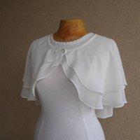 Wraps & Jackets Wedding Jacket Chiffon Shrug Short Bolero Bridal Capes Women Cloaks Accessories 2021