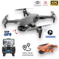 L90Pro GPS RC 무인 항공기 4K 듀얼 HD 카메라 전문 공중 사진 브러시리스 모터 Foldable Quadcopter 거리 1200m
