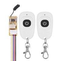 Smart Home Control 5V Mini RF Remote Switch 433 315 4.2V 4.5V 6V 7.4V 9V 12V Small Relay Contact Wireless Switches NO COM NC Push Button Doo