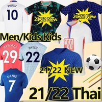 4th 2021 2022 CFC 런던 Stamford Bridge Stadium 축구 유니폼 20 21 Havertz Kante Werner Pulisic Abraham Men + Women + Kids Kits Football