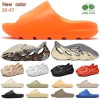 2021 corredor de espuma sandal slipper creme argila enlame laranja preto branco ósseo resina deserto areia homens mulheres fashion slides sandálias sapatos US 5-13