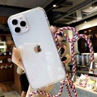아이폰 12에 대한 도매 가격 끈 복합 전화 케이스, 아이폰 12 안티 가을 아크릴 투명 셀백 뒷면 커버