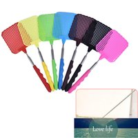 Hot hand fly swatter with retractable pull rod household tools accessories retractable fly swatter portable Factory price expert design Quality Latest Style