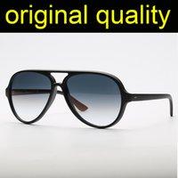 أعلى جودة الأشعة 4125 القطط 5000 النظارات الشمسية الرجال النساء الرجعية نظارات الشمس 5000 نموذج النايلون إطار الزجاج عدسات النظارات lentes de sol gafas