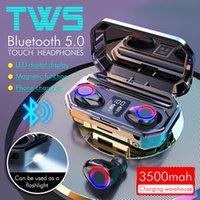 M12 TWS Kablosuz Kulaklıklar Bluetooth 5.0 Kulaklık HIFI Su Geçirmez Kulakiçi Spor Oyun Kulaklıklar için Dokunmatik Kontrol Kulaklık