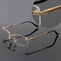 2021 البصرية بدون شفة إطار معدني مستطيل النظارات إطارات معابد مع رؤساء النمر رجل للجنسين جودة عالية wholesclear نظارات القضية lentes النساء النظارات الشمسية