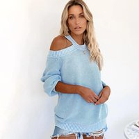 FITSHINLING Open Oponder Pullover Femmes Sweaters Backless Criss Cross Jumper Knitwear Automne Pull à manches longues