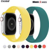 Solo Loop for Apple Watch Strap 44mm 40mm 45mm 41mm 38mm 42mm Elastic Silicone Watchband Bracelet IWatch Serie 6 5 4 3 SE 7 Band