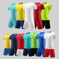 Men Adult soccer jersey short sleeve soccer shirts football uniforms shirt+shorts --S0701115-16-1