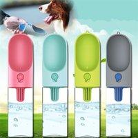 Puppy Cat Feeding Water Bottle Portable 400ML Dog Outdoor Waters Dispenser Pet Leak Proof Bowls Supplies 89cz CY