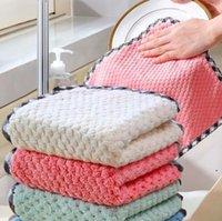 행판 닦아 테이블 씻어 접시 딱딱한 손으로 닦아 핸드 타월 깨끗한 수건 가정용 부엌 청소 천으로 HWC5590