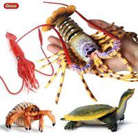 Oenux الكلاسيكية البحر الحياة العالم محاكاة الحيوانات كبيرة جراد البحر سرطان البحر السلاحف كم الأساسية عمل الشكل المحيط نموذج التعليم لعبة أطفال