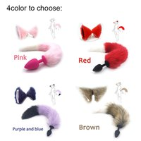 Plug Silicone Fox Tail Butt Plug and Lovely Ears Anal Sex Toy For Women Games Adultos Productos sexuales y Dildo Vibrator C022801 C31