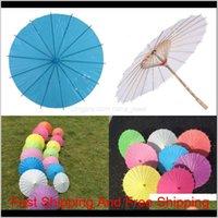 أرخص!!! الصينية اليابانية parasol مظلة ورقة مظلة لحفل زفاف وصيفات الشرف الحسنات الصيف الشمس الظل كيد الحجم 128 G2 54WWH EYOD3
