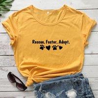 Rettungsförderung adoptieren 100% Baumwolle T-Shirt Funness Adopt nicht einkaufen Grafik T-Shop-T-Shop-T-Shirt-T-Shirt-T-Shirt