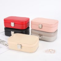 Bolsas de joyería, bolsas Mini Organizer Box PU Leather Princess Vestuario Cumpleaños Pendiente de regalo Colección 3409 Q2