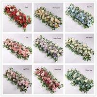 NEW50CM Longueur Fleur de soie avec mousse bricolage arc fleur de fleur d'acanthosphère rose pivoine mélangement fleur pour la décoration de toile de mariage EWD7796