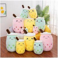 Plüschtier 24cm Milch Tee Plüsch Spielzeug Plüsch gebrühter Tiere - gefüllte Cartoon Zylindrische Körperkissen Tasseförmige Kissen 496