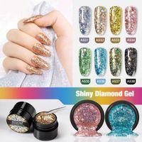 Nail Gel 5ml Shining Diamond Glitter Paint Shiny Hybrid Varnishes For Manicure Art Design Polish Top & Base