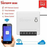Controle Home Inteligente Sonoff Mini DIY Switch Automação Voz Remote Relay Módulo Trabalho com Alexa Google 2021