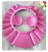 Sade Yıkama Kap Çocuk Kulak EVA Ayarlanabilir Boyutu Şampuan Bebek Duş Şampuan Kapağı