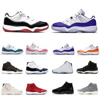Classic Bred Cred Low WMNS Concord Jumpman 11 Mens Baloncesto Zapatos de Baloncesto Gris Suede Cap y Vestido Espacio Hombres Mujeres Entrenadores Deportes Zapatillas de deporte
