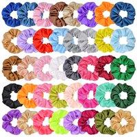 40 colores New Insurly Satin Scrunchies Elastic Hairbands Panalera Panalera Color Colorida Cuerda Cuerda Velvet Niños Mujeres Accesorios para el cabello 697 x2
