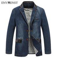 Erkek Takım Elbise Blazers 2021 Casual Denim Ceket Erkekler Son Tasarım Patchwork Adam Slim Fit Yıkanmış Jean Coats Artı Boyutu M-4XL Marka Homme
