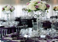 Party Decoration 8pcs )70cm Tall )Tall Crystal Gold Candelabras Candle Holder Flower Stand Table Centerpiece Wedding